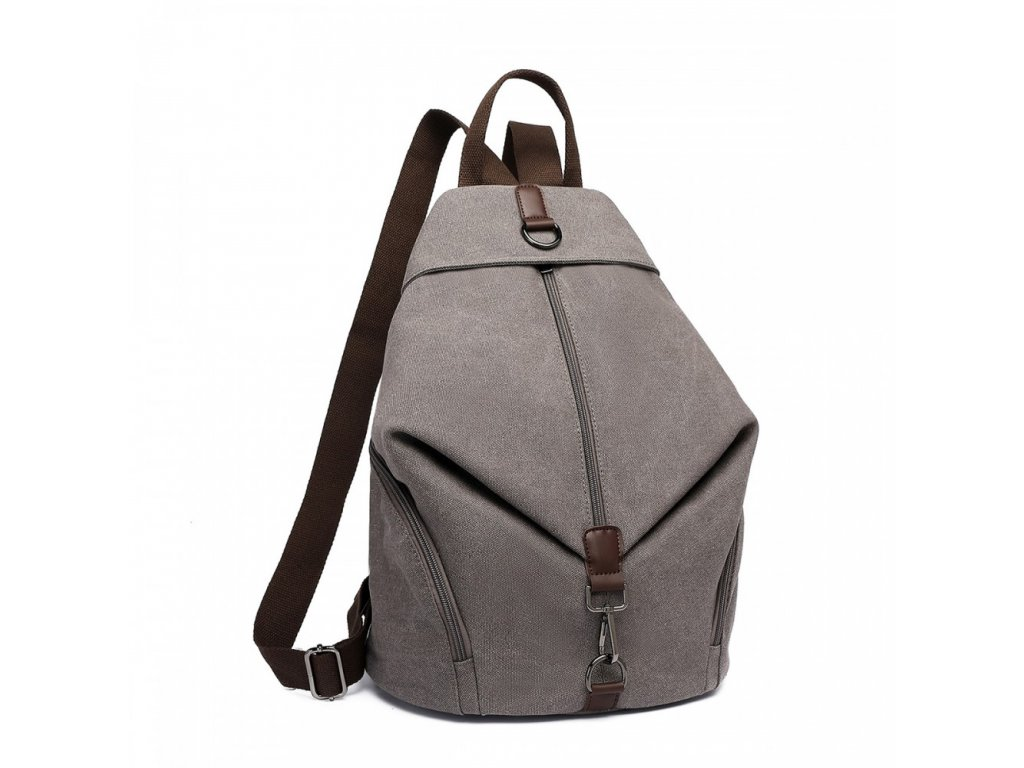 Plátěný batoh proti vykradení Kono Saviora - šedá