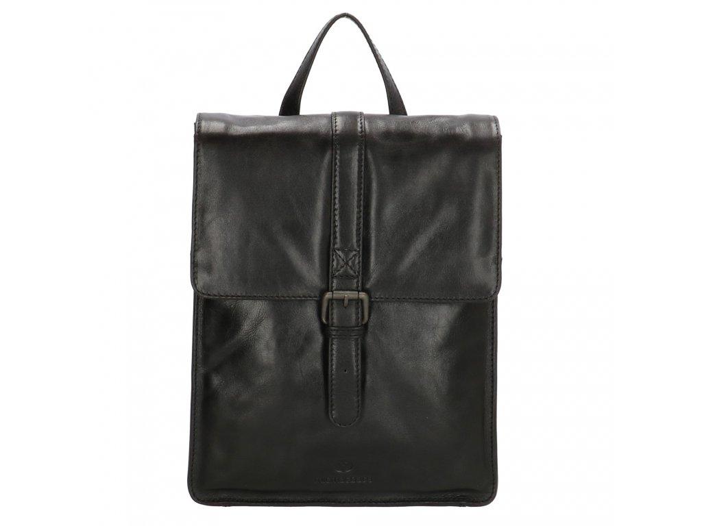 Dámský kožený batoh Micmacbags Porto - černý