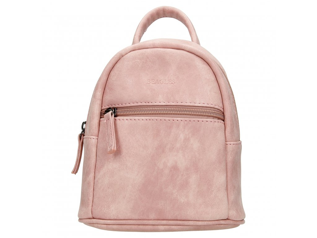 Ultra mini batůžek Beagles Olivia - růžový