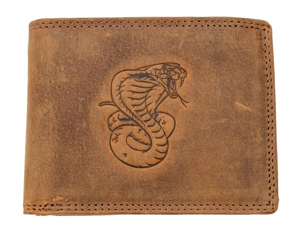 Luxusní kožená peněženka s kobrou