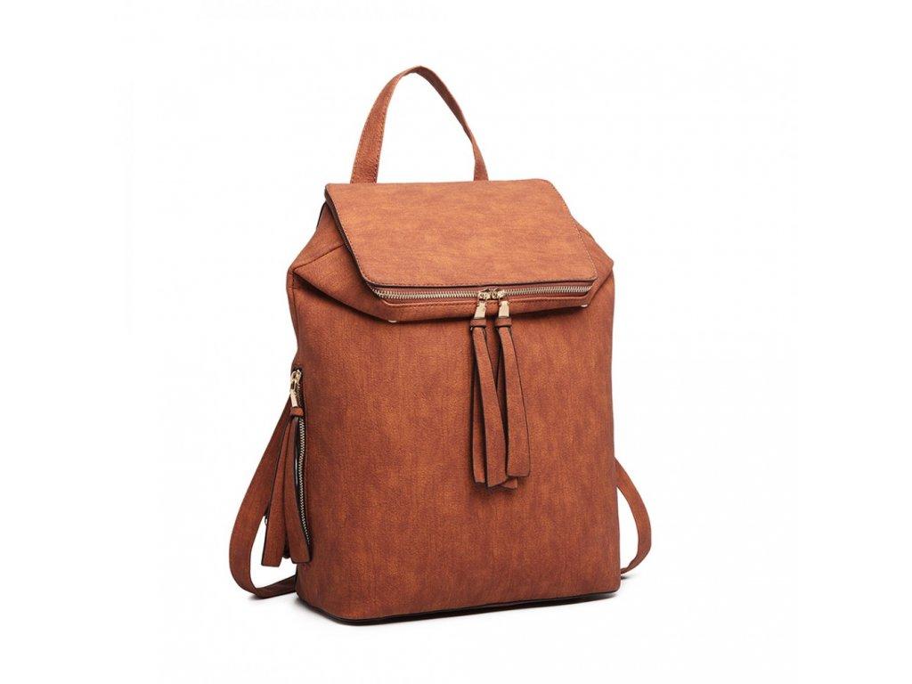 Rozšiřitelný batoh Monica - hnědý