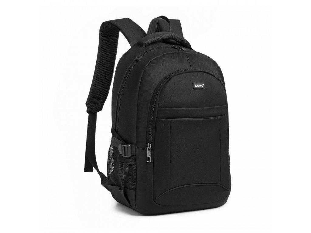 Klasický praktický batoh KONO Jacob - černý