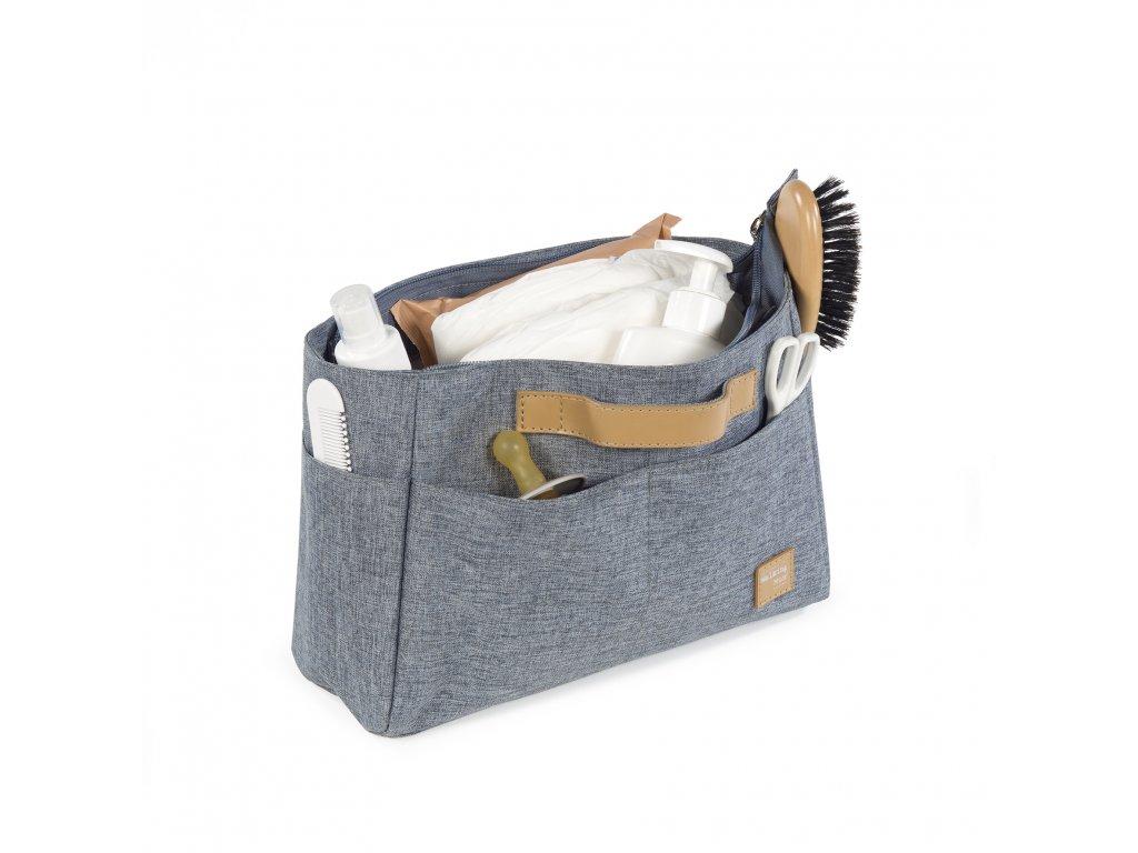 Organizér do cestovní tašky Walking Mum Baby nature Collection - tmavě šedý