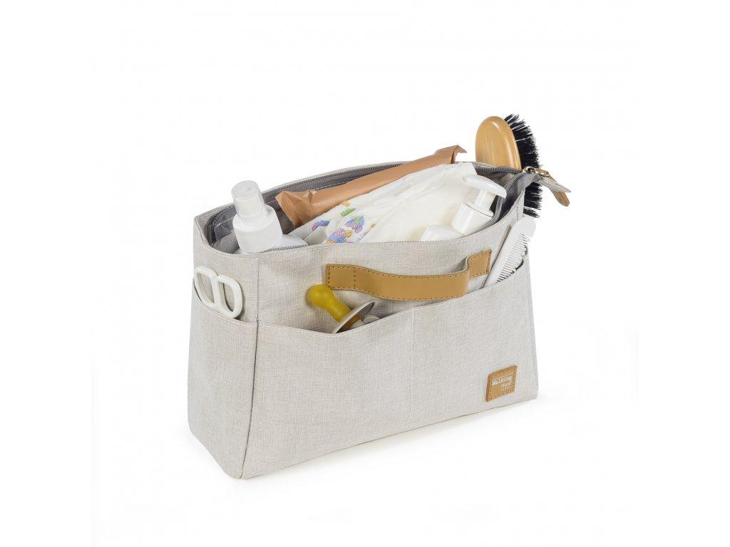 Organizér na kočárek Walking Mum Baby nature Collection - světle šedý