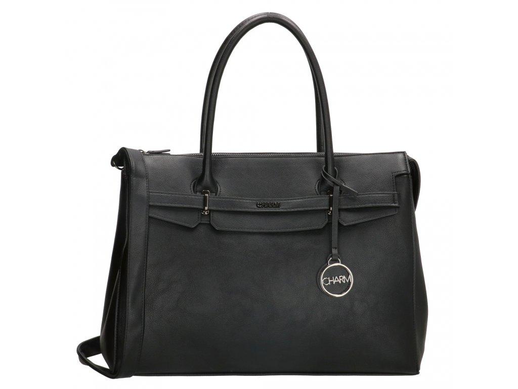 """Elegantní dámská kabelka na notebook Charm London Bromley - 15,6 """" (38 cm) - černá"""