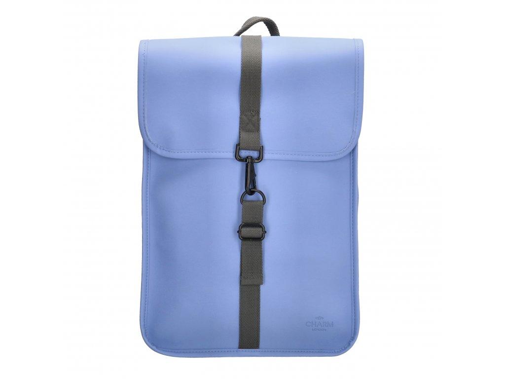 """Moderní batoh unisex Charm London Neville - 17,3 """" (43 cm) / 12L - modrý"""