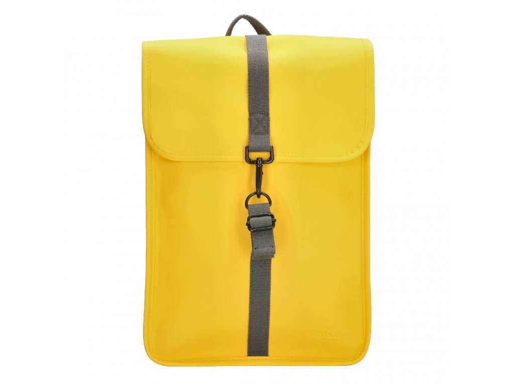 """Moderní batoh unisex Charm London Neville - 17,3 """" (43 cm) / 12L - žlutý"""