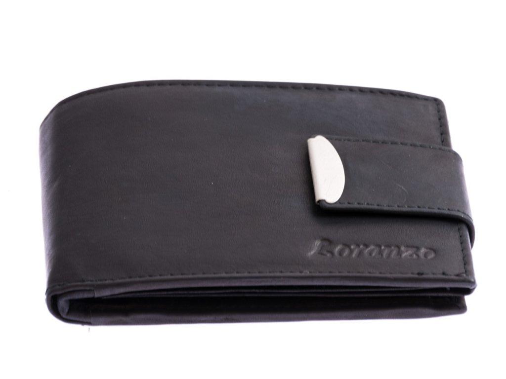 Pánská peněženka s přezkou - černá