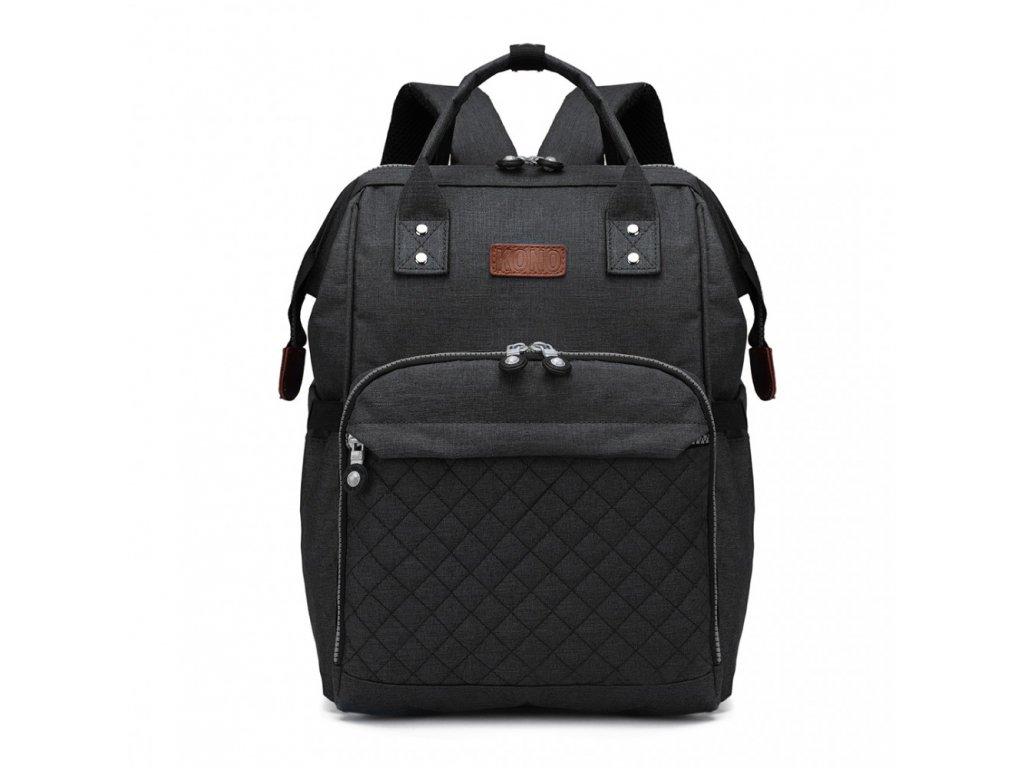 Přebalovací batoh na kočárek - černý