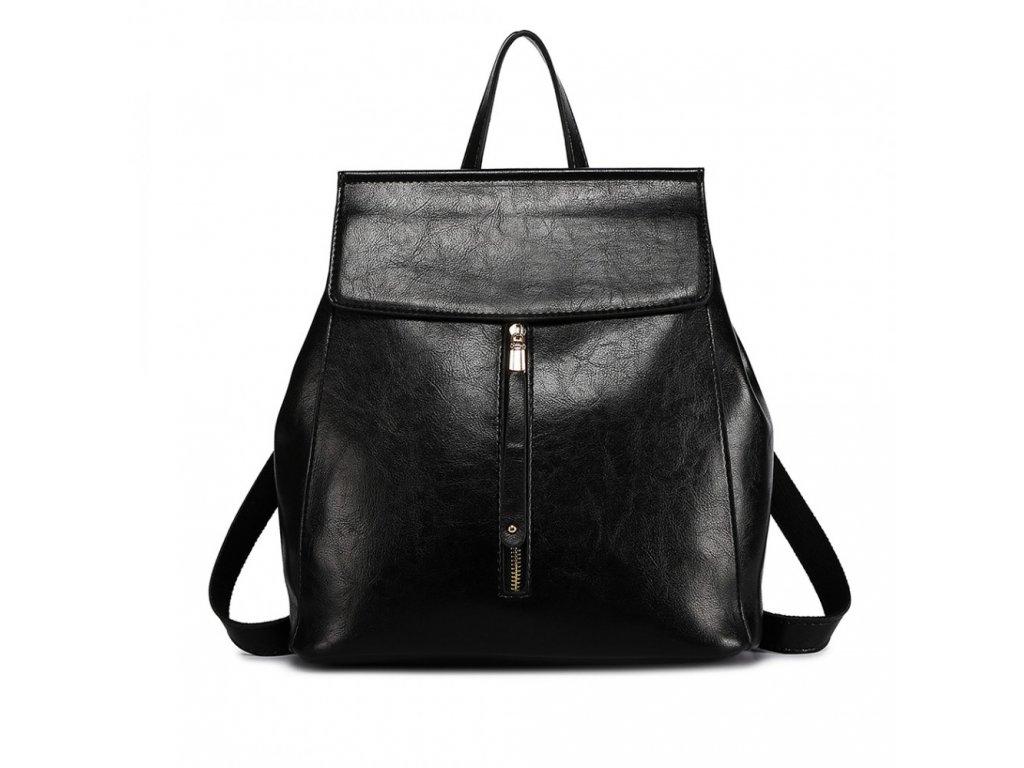Dámský elegantný batoh ve stylu vintage - černý