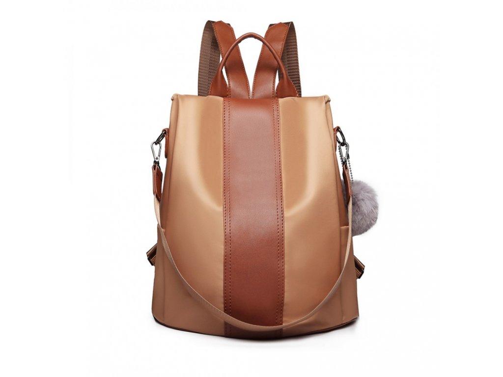Dámský elegantní batoh Limba - hnědý