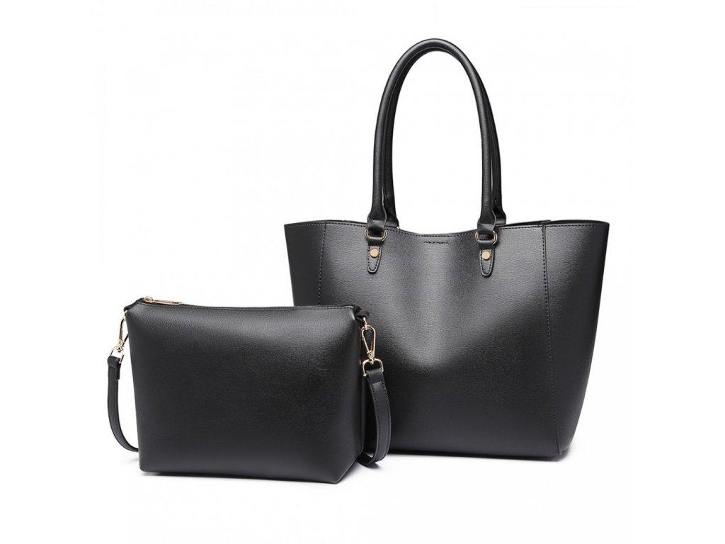 Dámská kabelka na rameno s kosmetičkou Tania - černá