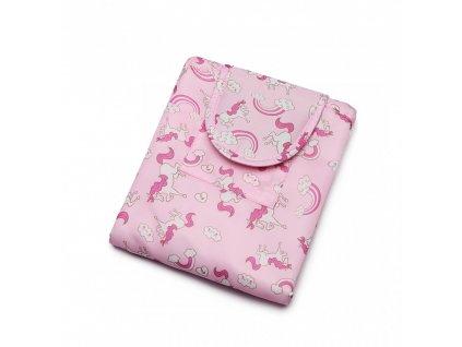 Cestovní kosmetická taštička - Jednorožci - Růžová