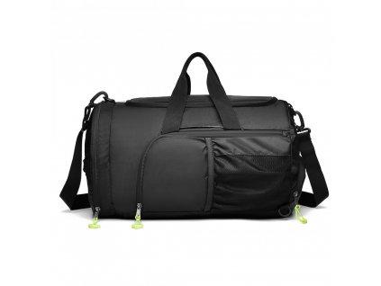Multifunkční pánská sportovní taška / batoh - černá