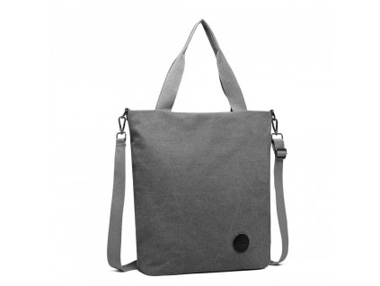 Stylová pánská canvas taška Kono - šedá