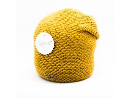 Dámská módní čepice Wróbel - okrová