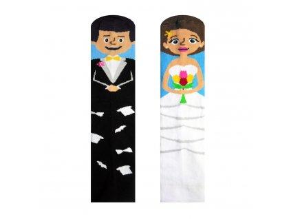 Veselé Ponožky Nevěsta a Ženich