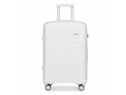 Cestovní kufr na kolečkách Classic Collection - bílý