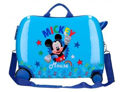 Dětský kufřík na kolečkách - odražedlo - Mickey Stars 2