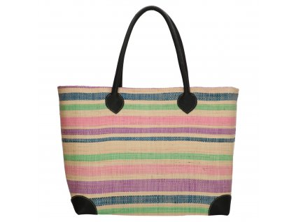 Plážová taška / košík Rafie Mand - pastelová
