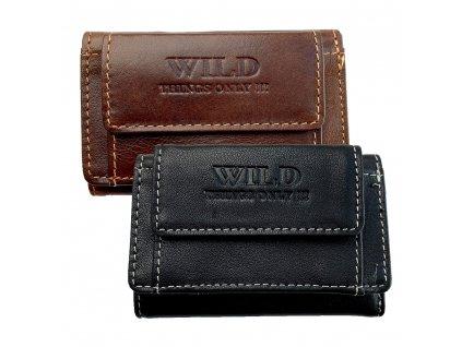 Pánská kožená kapesní peněženka Wild menší (Barva Černá)