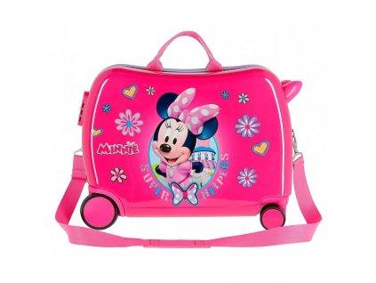 Dětský kufřík na kolečkách - odražedlo - Minnie Super Helpers