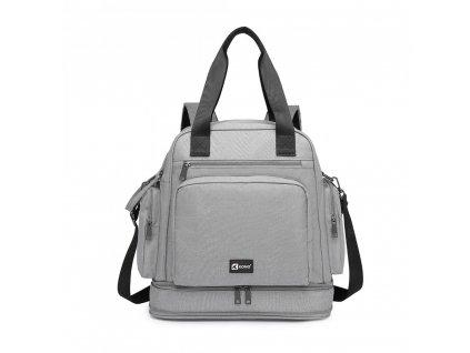 Multifunkční MAMA batoh / taška Kono Baby - šedý