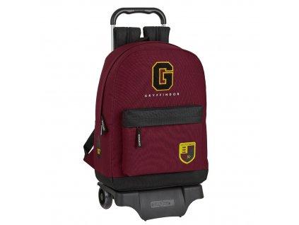 Jednokomorový batoh na kolečkách Harry Potter Nebelvír 43 cm