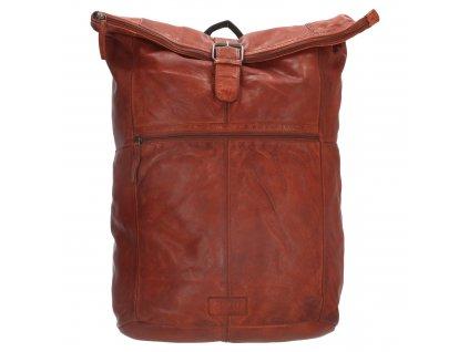 """Batoh z pravé kůže Old West Paint Rock na notebook 15,6"""" (38 cm) - koňakový"""