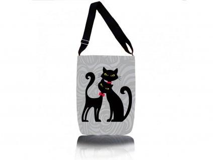 Kabelka přes rameno - Cats in Black