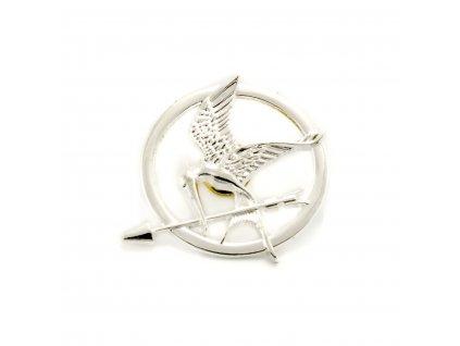 Hunger Games brož Reprodrozd stříbrná