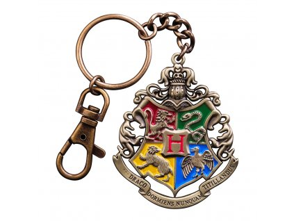 Přívěsek na klíče erb Bradavické školy.