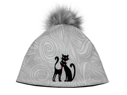14540 damska designova cepice cats in black