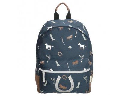 Dětský předškolní batoh Run away Love Horse - Navy