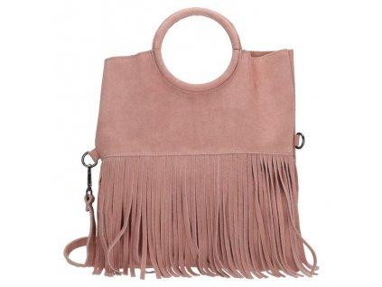 Dámská kožená kabelka Charm London Elisa - růžová