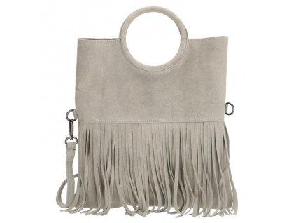 Dámská kožená kabelka Charm London Elisa - šedá