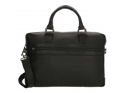 Kožená byznys taška na notebook Micmacbags Montana 15,6 inch (38 cm) - černá