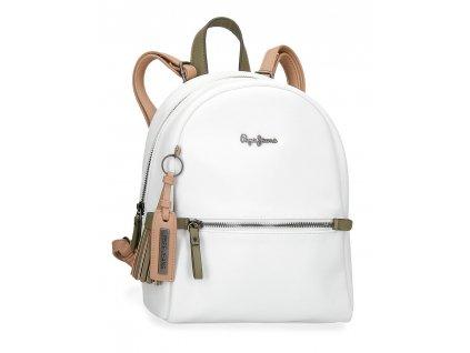 Dámský elegantní batoh Pepe Jeans Zaida - bílý