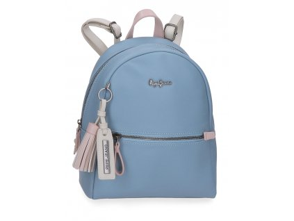 Dámský elegantní batoh Pepe Jeans Zaida - modrý