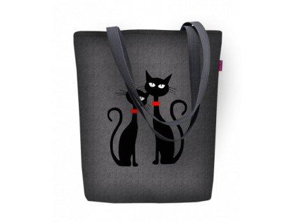 Designová taška na rameno Sunny - Dvě kočky