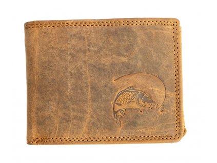 Luxusní kožená peněženka s kaprem