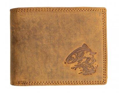 Kožená peněženka s pstruhem