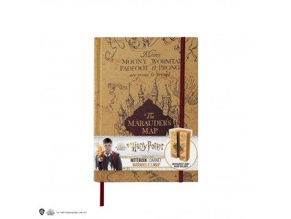 Zápisník A5 Harry Potter Pobertův plánek - The Marauders Map