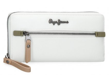 Dámská elegantní peněženka Pepe Jeans Zaida - bílá