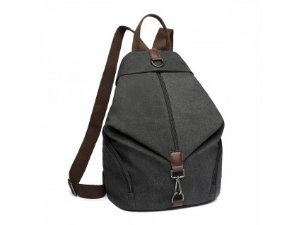 Plátěný batoh proti vykradení Kono Saviora - černý