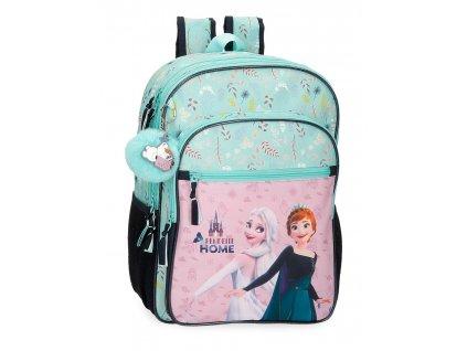Dvoukomorový školní batoh Frozen ARANDELLE IS HOME 40CM