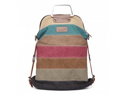 Taška a batoh v jednom  - duhová