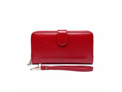 Dámská elegantní peněženka - červená Burgundy