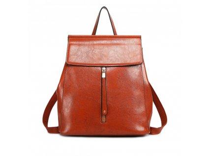 Dámský elegantný batoh ve stylu vintage - terakota