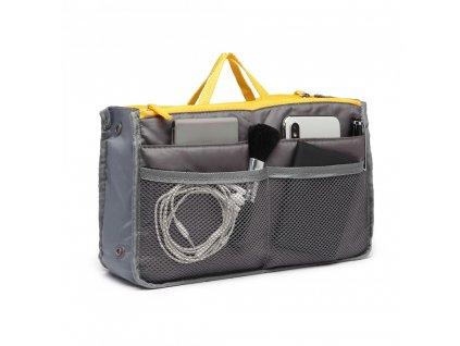 Šikovný organizér do kabelky - šedý